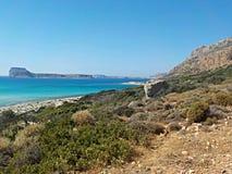 Пляж Balos Стоковая Фотография