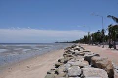 Пляж Bangsaen, Стоковая Фотография RF