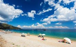 Пляж Barbati Стоковые Изображения