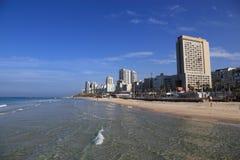 Пляж BAT-YAM стоковые изображения rf