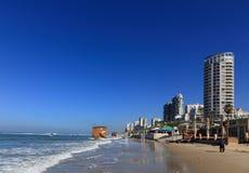 Пляж BAT-YAM стоковые фотографии rf