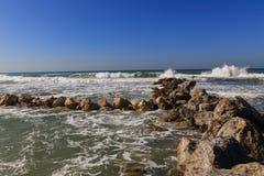 Пляж BAT-YAM стоковое фото