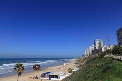 Пляж BAT-YAM стоковые изображения