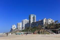 Пляж BAT-YAM стоковые фото