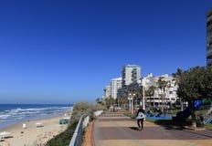 Пляж BAT-YAM стоковое изображение