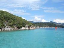 Пляж Bella Vraka, Syvota, Греция Стоковое Изображение RF