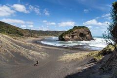 Пляж Bethells, Новая Зеландия Стоковые Изображения RF