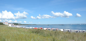 Пляж Binz, остров Ruegen, Балтийское море, Германия Стоковые Изображения RF
