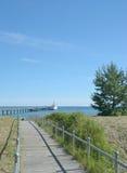 Пляж Binz, остров Ruegen, Балтийское море, Германия Стоковые Фото