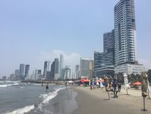 Пляж Bocagrande Стоковое фото RF
