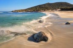 Пляж Bodri около Ile Rousse в Корсике Стоковое фото RF
