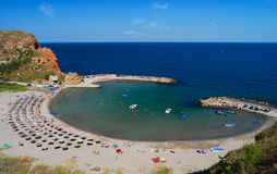 Пляж Bolata, Чёрное море, Болгария стоковые фото