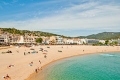 Пляж Brava Косты Стоковое Изображение