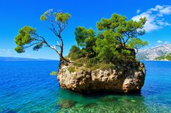 Пляж Brela Стоковые Изображения