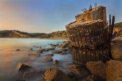 Пляж Burgau Cabanas Стоковые Изображения RF