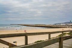 Пляж Cabedelo в Figueira da Foz, Португалии Стоковая Фотография RF