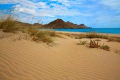 Пляж Cabo de Gata Альмерии Playa Genoveses Стоковое Изображение