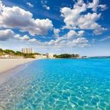 Пляж Calvia Майорки Playa de Palmira в Мальорке Стоковое Изображение