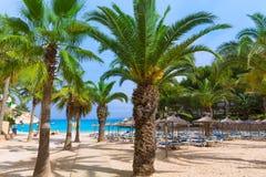 Пляж Calvia Мальорка Мальорки Cala Vinyes Vinas Стоковые Изображения RF