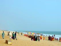 Пляж Chandrabhaga, Konark Odisha Стоковая Фотография