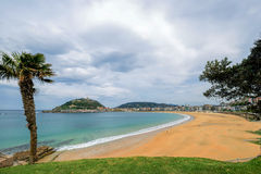 Пляж Concha Ла Стоковое Фото