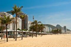 Пляж Copacabana в утре стоковая фотография rf