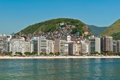 Пляж Copacabana, Рио-де-Жанейро, Бразилия Стоковая Фотография RF