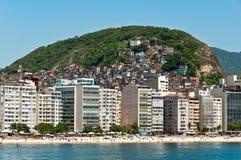 Пляж Copacabana, Рио-де-Жанейро, Бразилия Стоковое фото RF