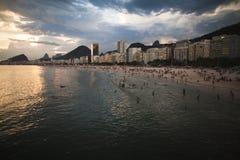 Пляж Copacabana Стоковое Изображение RF