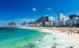 пляж copacabana de janeiro rio стоковая фотография rf