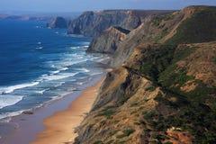 Пляж Cordoama, побережье Vicentine, Португалия Стоковое Изображение