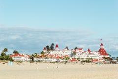 Пляж Coronado, пляж Сан-Диего, Сан-Диего стоковое изображение
