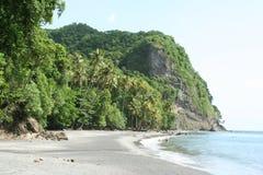 Пляж couleuvre Anse, Мартиника, Франция Стоковое Фото