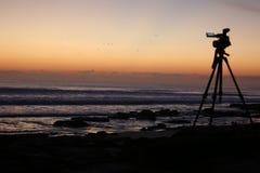 Пляж Cresent, восход солнца Флориды Стоковые Изображения RF