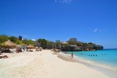 пляж curacao стоковые фотографии rf