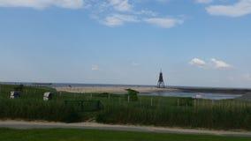 Пляж Cuxhaven Стоковая Фотография RF