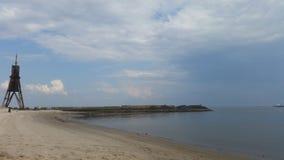 Пляж Cuxhaven Стоковое Изображение