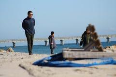 Пляж Deerfield Стоковая Фотография RF
