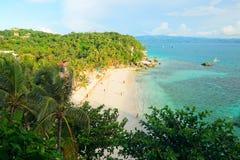 Пляж Diniwid острова Boracay, Филиппин Стоковое Изображение RF