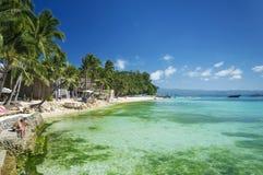 Пляж Diniwid тропический в boracay Филиппинах Стоковые Фотографии RF