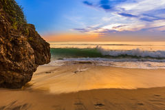 Пляж Dreamland в Бали Индонезии Стоковые Изображения RF