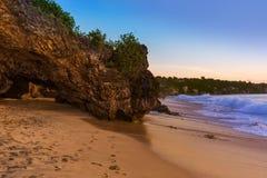 Пляж Dreamland в Бали Индонезии Стоковая Фотография RF