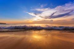 Пляж Dreamland в Бали Индонезии Стоковые Фотографии RF