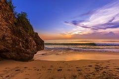 Пляж Dreamland в Бали Индонезии Стоковое Изображение RF