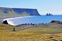 Пляж Dyrholaey, Исландия Стоковое Изображение