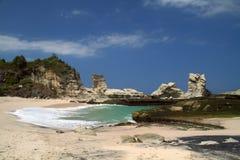 Пляж East Java Klayar стоковая фотография rf