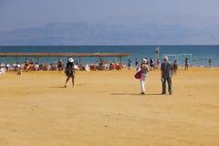 Пляж Ein Gedi мертвое море Израиля Стоковая Фотография