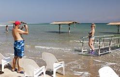 Пляж Ein Gedi мертвое море Израиля Стоковые Изображения
