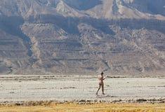 Пляж Ein Gedi мертвое море Израиля Стоковое Изображение RF