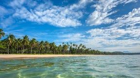 Пляж El Nido Nacpan Стоковое Изображение